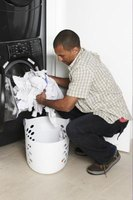 Installing a floor drain helps remove water in your laundry room.