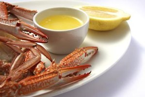 Pour the butter into a small dish to serve next to the crab.