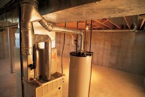 Leaving ductwork exposed when you finish a basement can detract from the appearance.