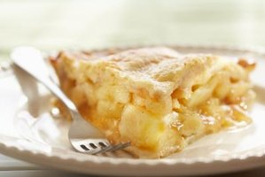 Starch thickeners, like cornstarch, help pies hold their shape.