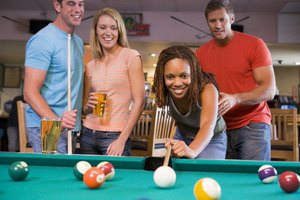 Keep drinks away from the pool table to avoid spills and stains.