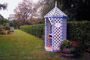 Decorating with lattice adds a touch of outdoor charm to the inside of your home.