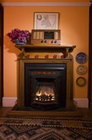 Make a fireplace cabinet that matches your home decor.
