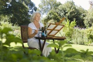 Painting en plein air captures the essence of an outdoor environment.
