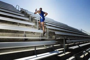 Stair running is one easy way to increase strength and stamina in your hips and legs.