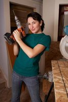Some slate craft projects may include drilling.