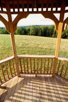 A screened gazebo gives you the benefits of a wood design but is a temporary addition.
