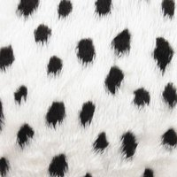 Create fun patterns on your faux fur with acrylic spray paint.