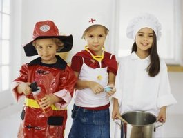 Include career-inspiration costumes in your dress-up area for kids.
