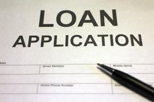 Loan application with a pen