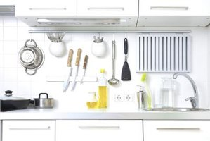 Outfit your kitchen with wall-mounted storage options.