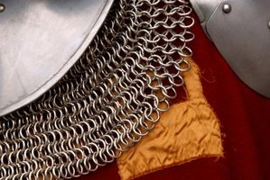 Instead of using real chainmail, simulate it with cheap fabric.