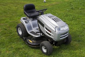 A small lawn tractor.