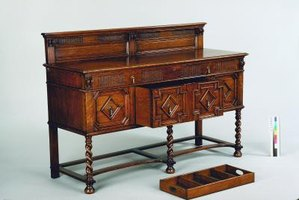 Refinishing a mahogany sideboard can restore its natural beauty.