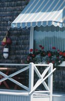 Awnings provide decorative protection from the sun's hot rays.