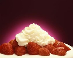 Aerosol whipped cream is a convenient topping on many desserts and beverages.