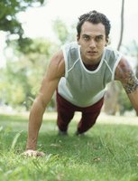 Pushups are a calisthenic strengthening exercise that require minimal equipment.