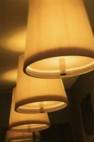 Lampshades help to direct and diffuse light.
