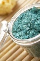 Food coloring can turn homemade bath salts any hue.