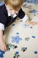 Create printable puzzles using pictures that have meaning to a child.