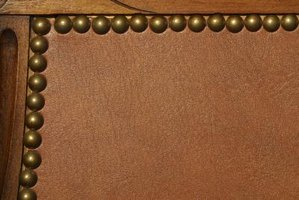 Cover leather inserts with strategically placed pieces of fabric.