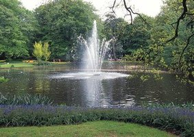 Fountains are one way to enhance a pond.