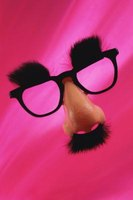 """Groucho"" glasses provide an all-in-one fake mustache look."