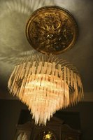 Make a chandelier from tulle ribbon for a more customized decoration.