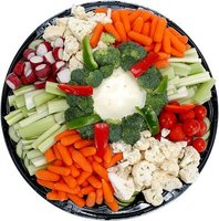 Vegetable platters provide healthy food for your party.