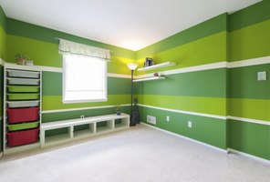 Paint stripes to add visual interest without requiring a lot of money.