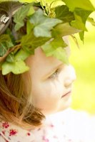 Kids will enjoy making Greek head wreaths from artificial ivy leaves.
