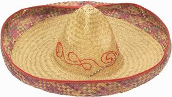Make your sombrero as colorful as possible.