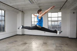 Getting your back leg higher in a leap requires strength and flexibility.