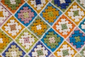 Granny squares are worked separately and then joined, so they are a portable project.