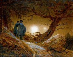 This is a Romantic-style painting by Caspar David Friedrich.