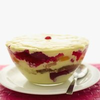 A slightly curdled custard can be used in a trifle to mask the curdled texture.