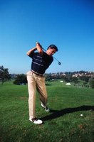 Golfers often lose control of their swing at the point of impact.