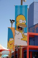 3D experiences like The Simpsons ride are dominant at Universal Studios.