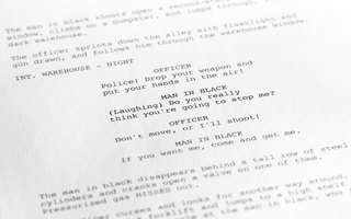 A page of a screenplay.
