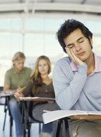 Students who lack sleep are likely to fall asleep in class.