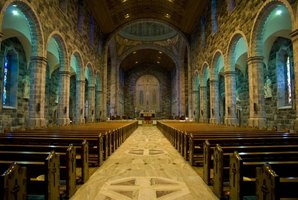 Quarried locally, the Galway cathedral's main floor is made of Connemara marble.