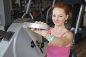 Hand crank machines provide an aerobic, upper-body workout.