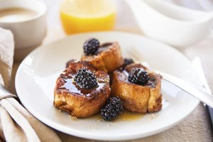 Let baked French toast cool a few minutes before eating.