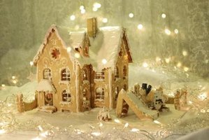 Decorate your bricks-and-mortar house like a gingerbread fairy tale for Christmas.