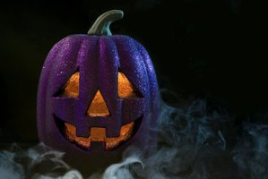 Glitter can be used on real or fake, carved or uncarved pumpkins.