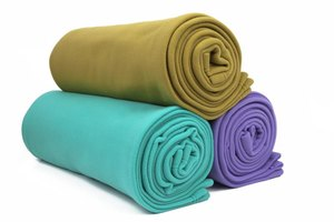 Use a polar fleece blanket for inexpensive polar fleece fabric.