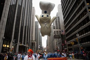 Poppin' Fresh appeared in the 2014 Macy's Thanksgiving Day Parade.
