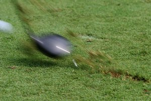 The divot should appear ahead of the spot where the ball rested.