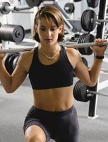 Add weights to your lunges and squats to increase calorie burn.