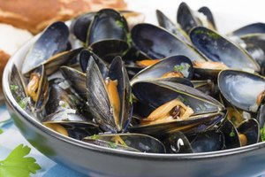 Mussels require only a few minutes in the steamer.
